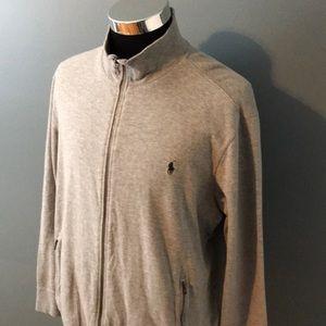 Polo by Ralph Lauren men's gray zip up sweater EUC
